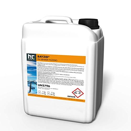 2 x 14 kg pH Senker flüssig von Höfer Chemie zur Senkung des pH Werts im Pool - pH Minus für Schwimmbad und Spa
