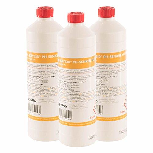6 x 1 kg pH Senker Minus flüssig von Höfer Chemie - DAS ORIGINAL für einen optimalen pH-Wert und eine gute Wasserqualität