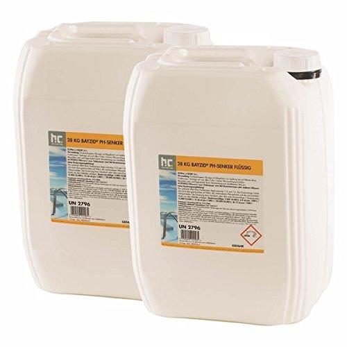 Höfer Chemie pH Senker Minus Pool flüssig - 2 x 28 kg - Für einen optimalen pH-Wert und eine gute Wasserqualität