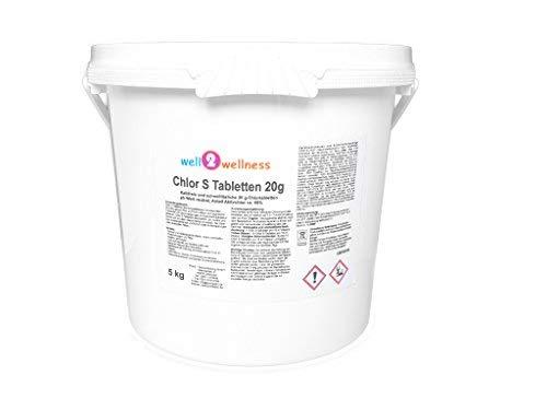 well2wellness Chlor S Tabletten - schnell lösliche Chlortabletten 20g  Chlortabs 20g 50 kg