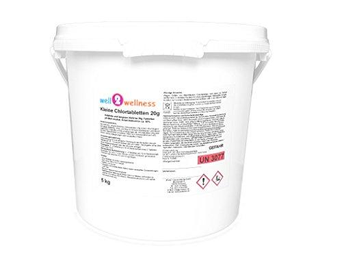 well2wellness Kleine Chlortabletten 20g - langsam löslich  90 Aktivchlor 50 kg