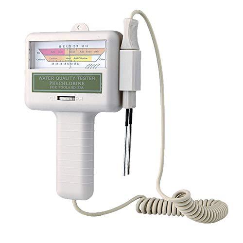 GOODBOX Wasserqualitätstest PH Chlor Pool Wasser PH Tester PH MeterChlormessgerät Messgerät für SchwimmbadTrinkwasserAquarium Type 1