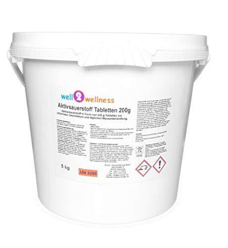 well2wellness Aktivsauerstoff Tabletten 200g  SauerstofftablettenO²-Tabletten 200g chlorfrei - 50 kg