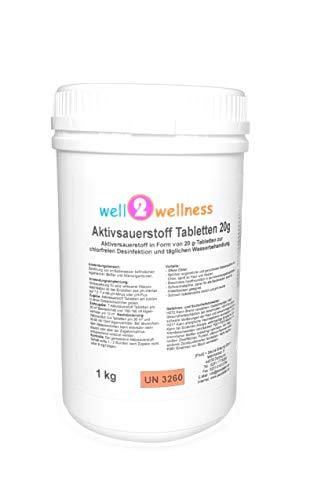 well2wellness Aktivsauerstoff Tabletten 20g  SauerstofftabsO²-Tabs 20g chlorfrei - 10 kg