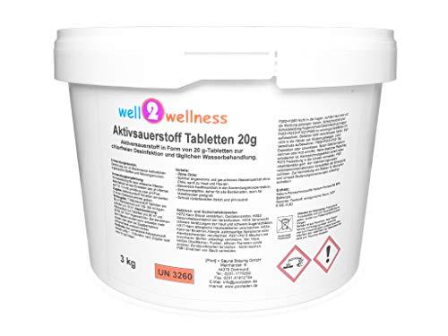 well2wellness Aktivsauerstoff Tabletten 20g  SauerstofftabsO²-Tabs 20g chlorfrei - 30 kg