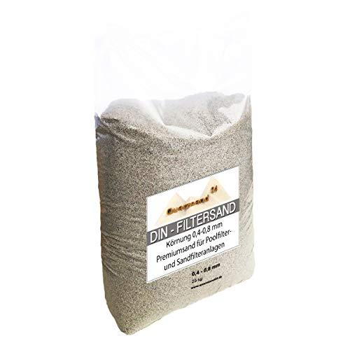 25 kg Filtersand für Sandfilteranlagen 04-08 mm Marke Meinpool24de H1 Versand mit DHL