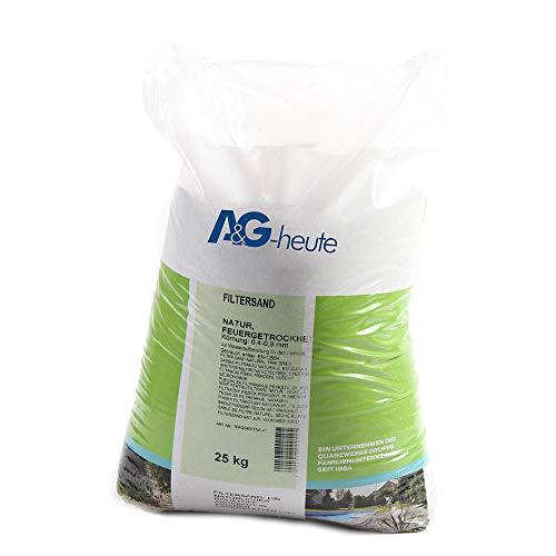A&G-heute 25kg Filtersand 04-08 mm Poolfilter Quarzsand für Sandfilteranlage Feuergetrocknet
