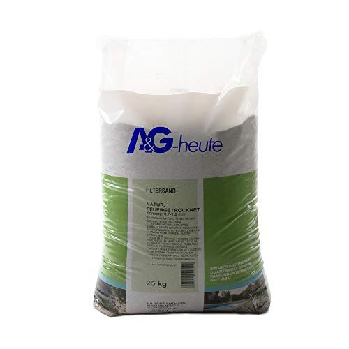A&G-heute 25kg Filtersand 07-12 mm Poolfilter Quarzsand für Sandfilteranlage
