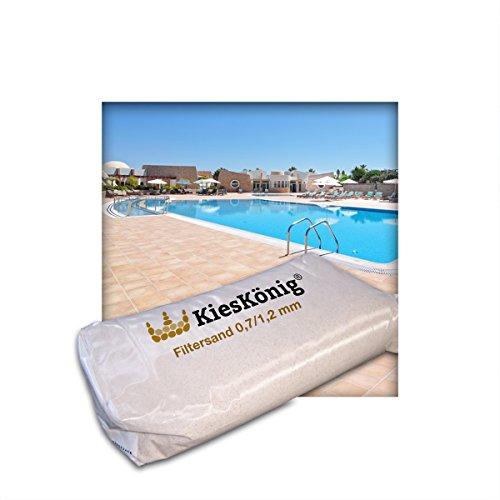Kieskönig 20 kg Filtersand für Poolfilteranlagen Sandfilteranlage Quarzsand 0712 mm