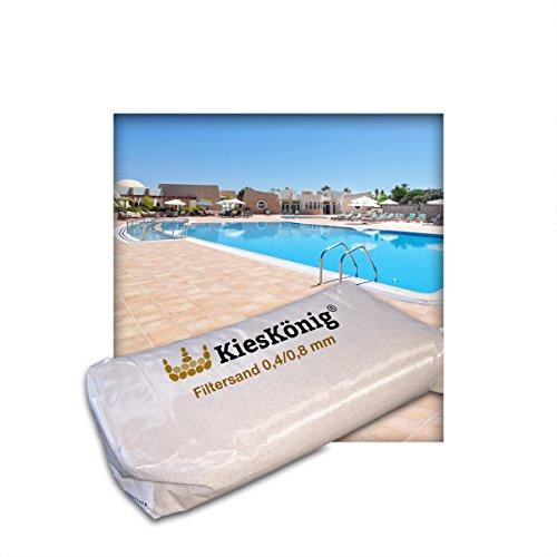 Kieskönig Filtersand für Poolfilteranlagen Sandfilteranlage Quarzsand 0408 mm 15 kg 3 x 5 kg Sack