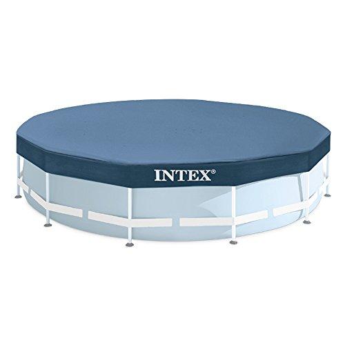 Intex 28031 Abdeckplane für Metal Frame Pool  Ø 366 cm Überhang 25 cmDunkelblau