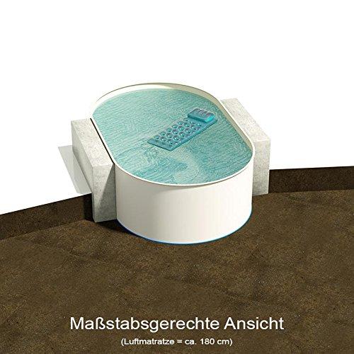 Ovalbecken 525 m L x 320 m B Tiefe 150 m  Folie 080 mm Sandfarben  ovales Stahlwandbecken  Pool Made in Germany