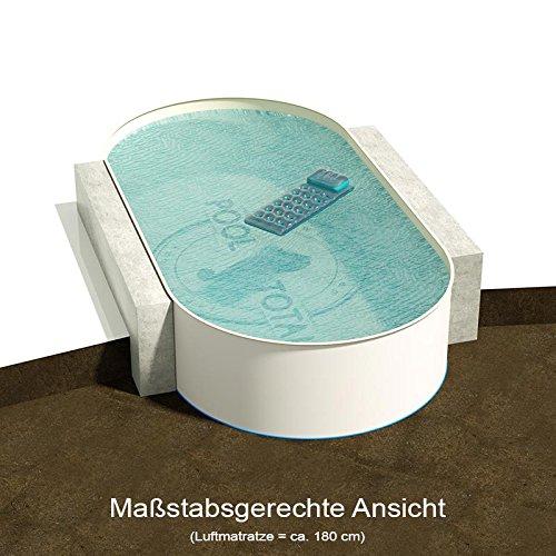 Ovalbecken 800 m L x 400 m B Tiefe 150 m  Folie 080 mm Sandfarben  ovales Stahlwandbecken  Pool Made in Germany