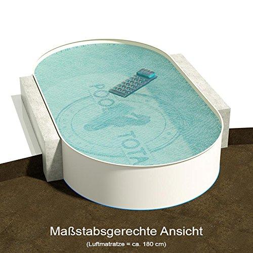 Ovalbecken 900 m L x 500 m B Tiefe 150 m  Folie 080 mm Sandfarben  ovales Stahlwandbecken  Pool Made in Germany