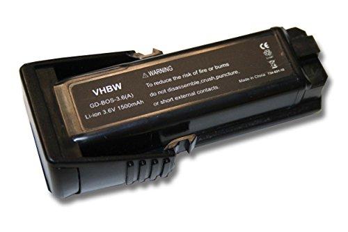 vhbw Akku 1500mAh 36V für Werkzeug Bosch 36019A2010 GSR Mx2Drive GSR PRODRIVE PS10 SPS10 SPS10-2 wie 2 607 336 242 BAT504