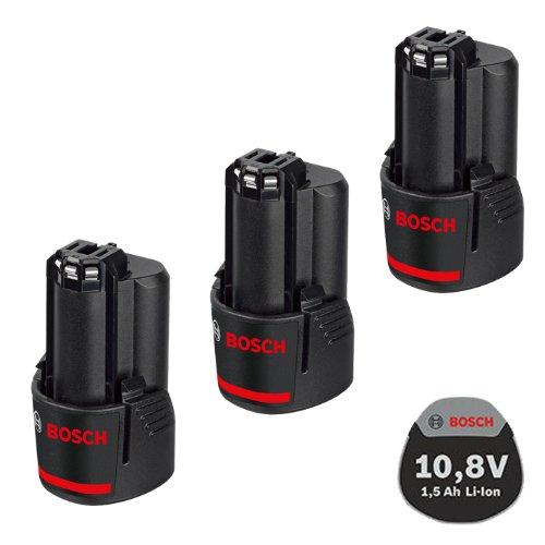 Bosch Akku Powerpack 3x Ersatzakku 108V 15Ah Li-Ion für GSR GDR GOP GWI GSA GLI GSB GWB