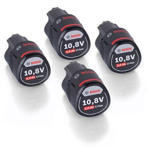 VIERERPACK  - Bosch 4er-Pack Akku 108 V 20 Ah Li-Ion für zB GSR GDR GOP GWI GSA GLI GSB 1600Z0002X