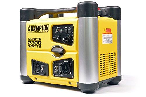 Champion 2300 Watt Inverter Benzin Generator Notstromaggregat Stromerzeuger EU 38 liters Gelb-Schwarz