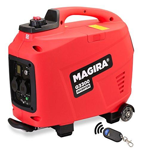MAGIRA 33kW Stromerzeuger Inverter mit E-Start 3300W Digital Benzin Aggregat leise in 11 Varianten 08kW - 70kW