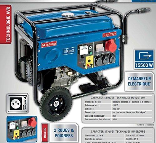 SCHEPPACH SG7000 Stromerzeuger Notstromaggregat Generator Benzin 13PS NEU