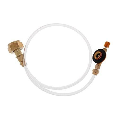 MagiDeal Propan Nachfüll Adapter Picknick Campingkocher Gasschlauch doppelseitig einstellbare Flache Tank Gas Rohr Adapterschlauch