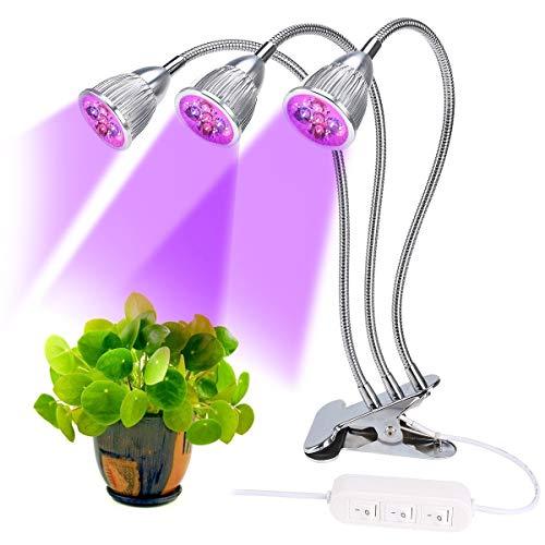 Lovebay 35W 15LED Pflanzenlampe PflanzenlichtRot Blau96 für Zimmerpflanzen zum überwinternmit 360° einstellbar Flexible GooseneckBüro Haus Garten Aquatische PflanzenAdapter mitgeliefert