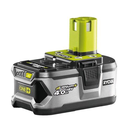 Ryobi RBC18L40 Akku Batterie mit kompaktem Schnell-Ladegerät im Set 18 V40 Ah Lithium Ionen Überlastschutz erhöhte Leistung und Lebensdauer Art-Nr 5133001907