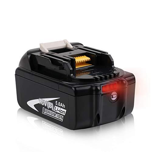 Batteriol Makita 18V 50Ah Li-Ion LXT Akku Ersatz für BL1850B BL1850 BL1840 BL1830 BL1820 Akku-Werkzeug mit LED Ladeanzeige
