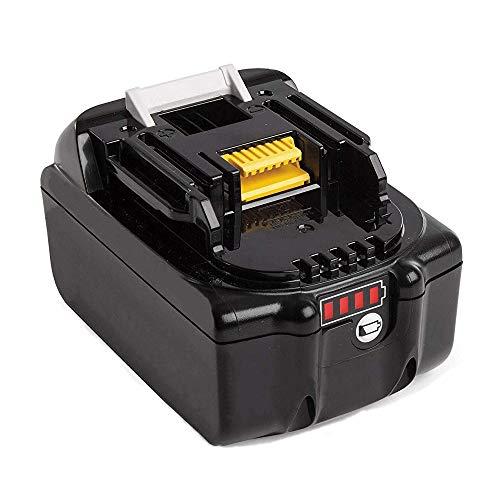 Forrat für Makita Akku 18V 50Ah Li-ion Werkzeugakku ErsatzAkku BL1850B BL1850 BL1840 BL1830 BL1815 194205-3 194309-1 LXT400Mit 4 LED Kontrollleuchte
