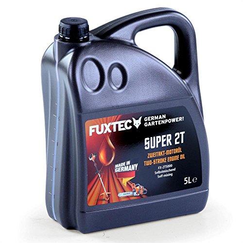 FUXTEC Zweitaktöl 5 Liter 2 Takt Öl für Benzin Motorsense Kettensäge LaubsaugerMADE IN GERMANY