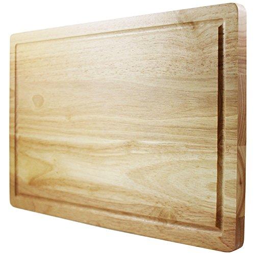 Chef Remi Schneidebrett - Lebenslange Ersatzgarantie - Best bewertetes Schneidebrett aus massivem Holz - 40x25cm großes Küchenutensil - stärker als Kunststoff oder Bambusbretter