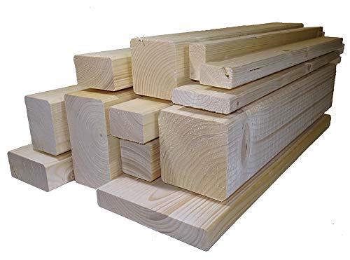 Ein Rahmenholz gehobelt unbehandelt Fichte BreiteHöheLänge 40mm x 60mm x 2000mm 649€Lfm Latten Kantholz Zaun Garten Holz Brett Balken Leiste Carport