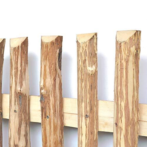 Zaunlatten aus Haselnuss • Zaunbretter 5-6 x 80cm zum Selbstbauen von Holzzaun Lattenzaun Staketenzaun bzw Kastanienzaun