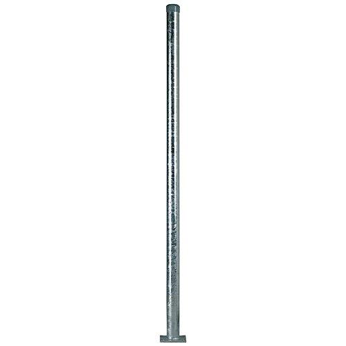 TMS PRO SHOP Rohrpfosten zum Aufschrauben Ø 6 cm aus Stahl 2 mm Wandstärke aus Stahl Kunststoff 25 m