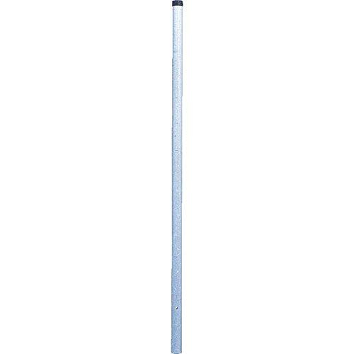 TMS PRO SHOP Rohrpfosten zum Einbetonieren Ø 6 cm aus Stahl 2 mm Wandstärke aus Stahl Kunststoff 25 m
