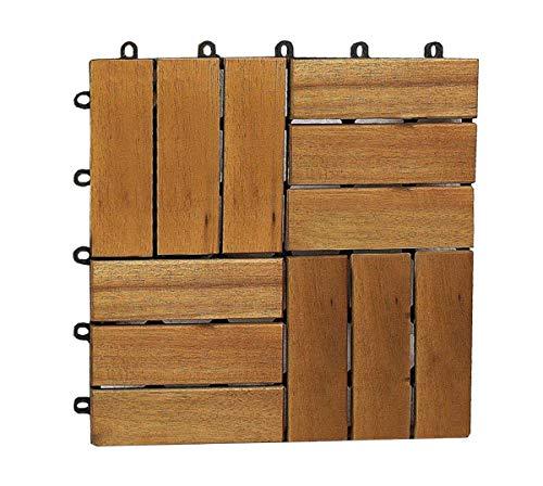 SAM Terrassenfliese 02 aus Akazien-Holz Einzelfliese FSC 100 zertifiziert Garten-Fliese Klick-Fliesen für Garten Terrasse Balkon