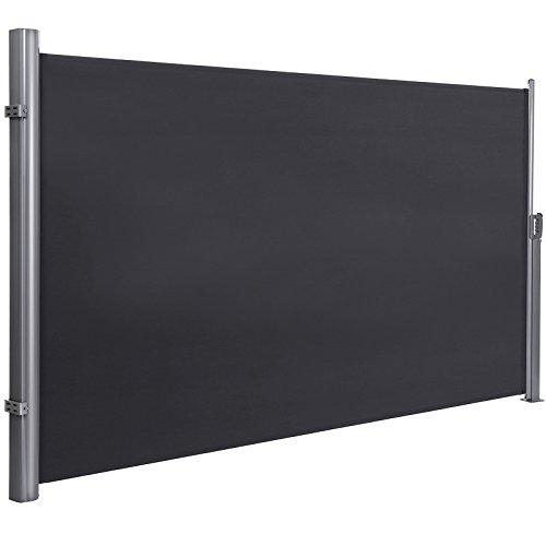 SONGMICS 200 x 350 cm H x L Seitenmarkise für Balkon und Terrasse Sichtschutz Sonnenschutz Seitenrollo GSA205G
