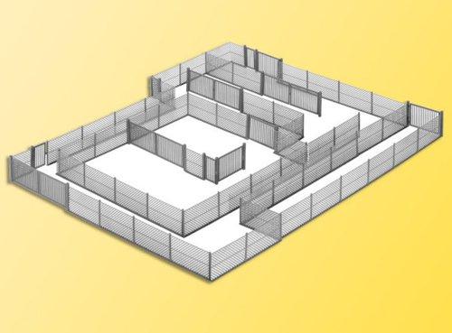 Kibri 38605 - Maschendrahtzaun grau