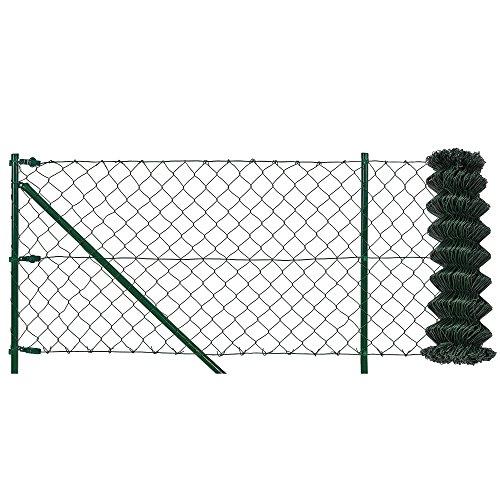 protec Maschendrahtzaun Komplettset grün verzinkt 80cm x 15m Schweißgitter Volierendraht Zaun