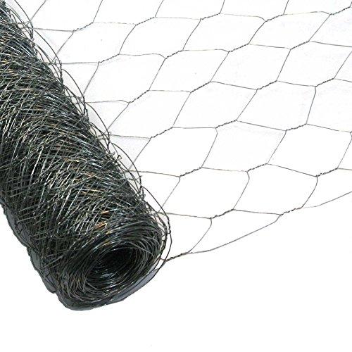 25 Meter Rolle Maschendraht Sechseckgeflecht Hühnerzaun Geflügelzaun Drahtzaun verzinkt Maschenweite 50 mm Höhe 150 cm
