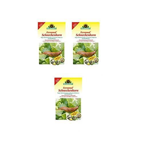 3x Ferramol Schneckenkorn von Neudorff wirkt gegen Nacktschnecken an Gemüse Erdbeeren und Zierpflanzen 2 kg