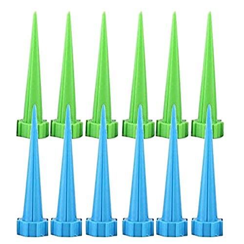 Kentop 12Pcs Wasserspender Bewässerung Urlaub Tropfer Gießkanne Wasser Spender Spikes für Zimmerpflanzen Topfpflanzen