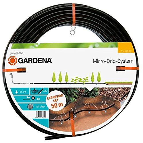 GARDENA Micro-Drip-System Tropfrohr unterirdisch 137 mm Wassersparende Perlschlauch-Verlängerung zur gleichmäßigen Bewässerung des Rasens 1395-20