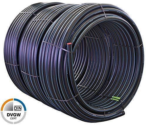 50 m Quarzflex PE Rohr 20 x 20 mm Trinkwasser PN16 DVGW