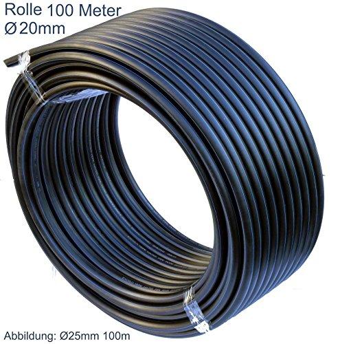 EXCOLO PE Rohr 20 mm und T-Stück Winkel Kugelhahn Muffen Verbinder PE Rohr 20 mm 100M