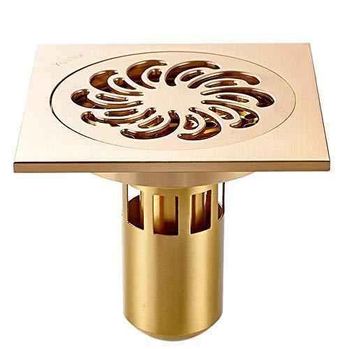 YYROP dusche Drainage Deodorant Bad bodenablauf Kupfer Anti-blockierung dusche Bad Balkon 10  10 cm E