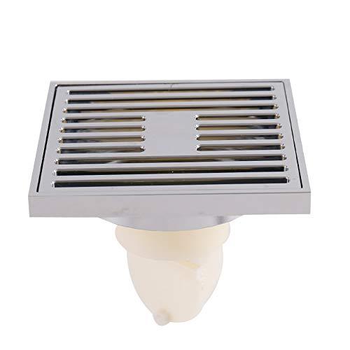 Zhaohong BodenAbfluss Verchromte Badezimmer Dusche Bodenablauf mit abnehmbarem Deckel 4
