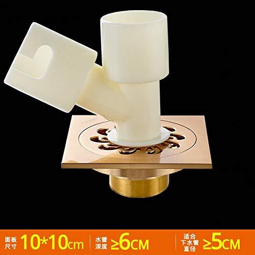 YYROP dusche Drainage Kupfer Deodorant bodenablauf verdickung Bad küche Bad insektenschutz kein rücklauf Wasser Balkon Waschmaschine bodenablauf 10  10 cm C