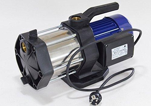 Gartenpumpe Kreiselpumpe Multi1100 INOX 1100Watt 5-stufig Edelstahl Förderleistung 5400 lh robuste und rostfreie Edelstahlwelle  integrierter thermischer Motorschutzschalter  Rückschlagventil