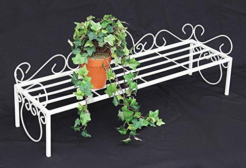 DanDiBo Blumenbank Mi Weiß Blumenständer 75 cm Blumenregal Blumentreppe Regal Pflanzentr